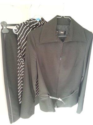 Kostüm von Mango Rock mit Blazer und Top schwarz Gr. 34