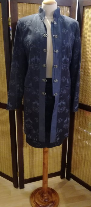 Mothwurf Veste bavaroise gris ardoise-bleu acier tissu mixte