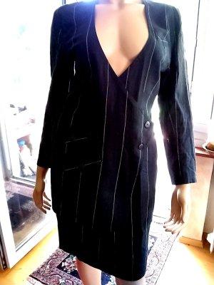 Tailleur noir-beige clair lin
