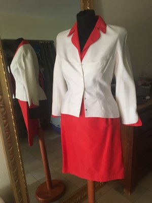 Thierry Mugler Tailleur rosso-bianco