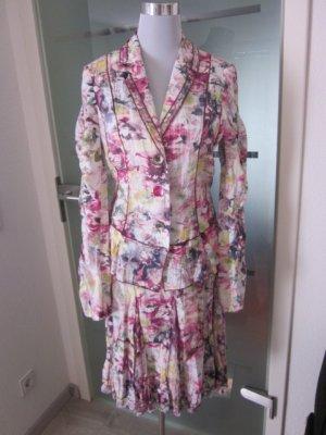 Kostüm weiss pink bunt Gr 34/36 BIBA
