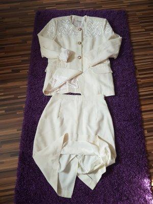 Kostüm, wollweiß/cremefarbend, Gr.48