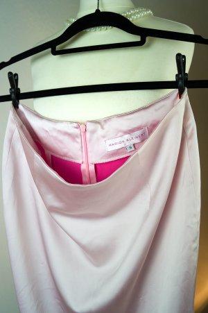Kostümrock, rosa-pink, Desingerrock, Stretch- Satin, glänzend, gebraucht