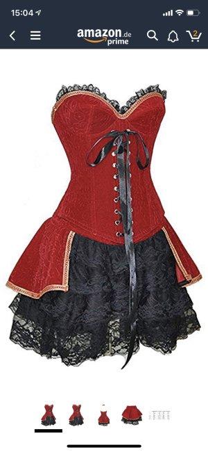 Tailleur nero-rosso