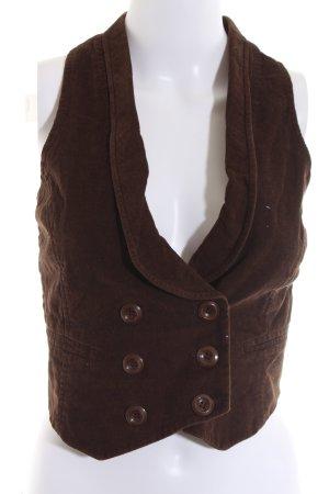Koton Gilet de costume brun style décontracté
