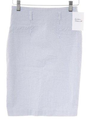 Koton Bleistiftrock weiß-kornblumenblau Streifenmuster Casual-Look