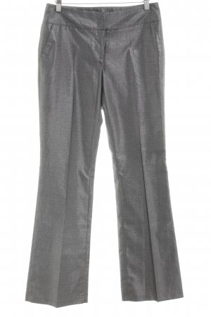 Koton Bundfaltenhose silberfarben Webmuster Business-Look