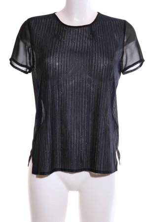 Koton Kurzarm-Bluse schwarz Casual-Look