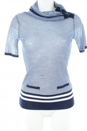 Koton Knitted Jumper blue-white striped pattern casual look