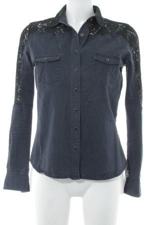Koton Wachsjacke dunkelblau-schwarz Casual-Look