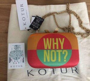 KOTUR Morley Maybe Why Not printed satin box clutch Neu ! Mit etiketten ! Net-a-porter Tag !