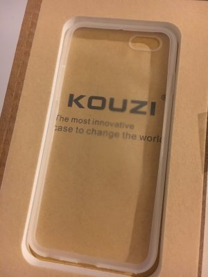 Kouzi Handhülle pumper iPhone 6 6s clear ultrathinn