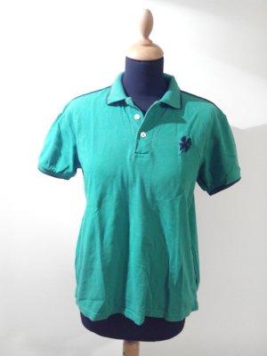 kräftiges knall grün Shirt Polo Oberteil Kleeblatt