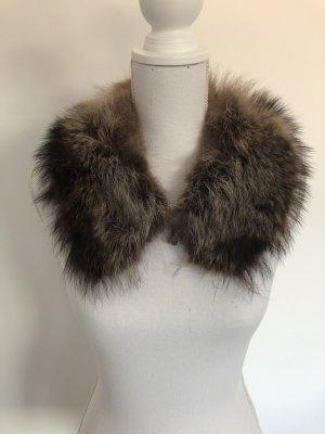Kragen mit Verschluss Fur Fell Echtfell Schal braun