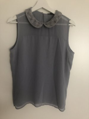 Ann Taylor Sleeveless Blouse light grey-grey