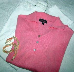 Kragenpullover mit Cashmere Anteil Casualstyle, Office, Büro, Meeting in Pink