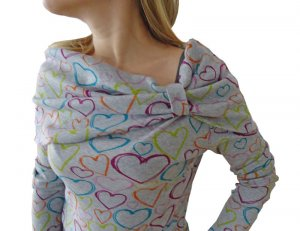 Turtleneck Shirt multicolored cotton