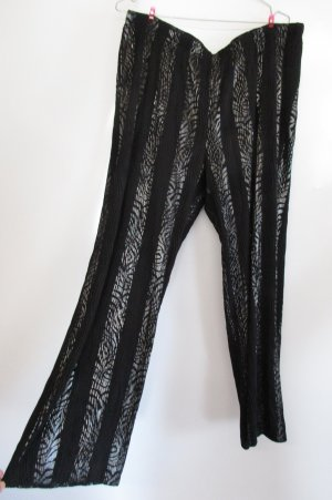 Krasse Vintage 80er Jogging Legging Klaus Modelle Größe 44 46 48 Schwarz Silberfarben Stretch Hose Jersey
