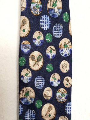 Vintage Cravatta casual multicolore Seta