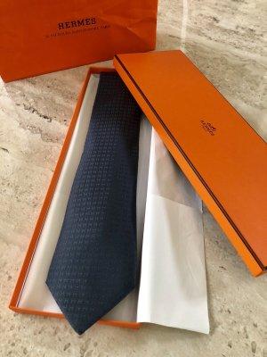 Hermès Sjaal staalblauw