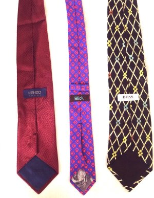 Krawatten 3er Pack u.a. V. Hugo Boss u Kenzo