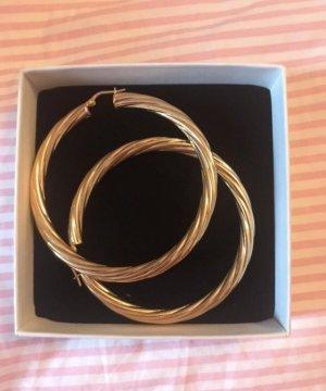 Kreolen Hoops verziert Gold von Safira