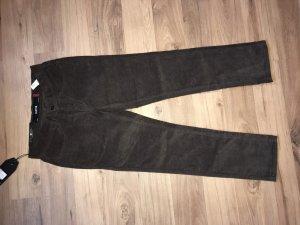 Krew Hose Cordhose K Slim 5 Pocket braun W28