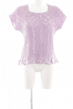 KRISS Ribbed Shirt lilac-pink extravagant style