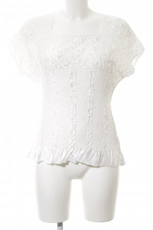 KRISS Ribbed Shirt white casual look