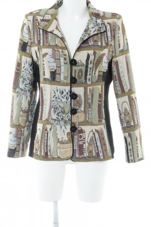 Kriss Sweden Short Blazer abstract pattern casual look