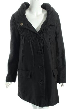 Kriss Sweden Oversized Mantel schwarz schlichter Stil