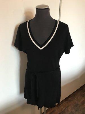 KRISS Short Sleeve Knitted Jacket black-white