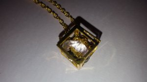 Necklace white-gold-colored
