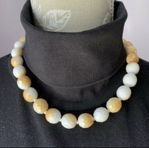 Pearl Necklace white-yellow