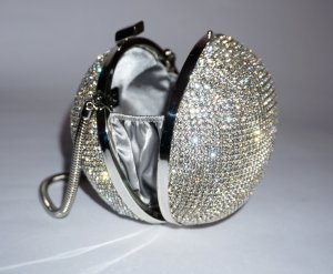 Kristall-Kugel-Clutch / Abendtasche von Nicoli