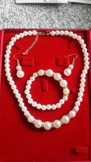 Kristall Schmuck-Sets  Gold-Silber-Farbe afrikanische Perle