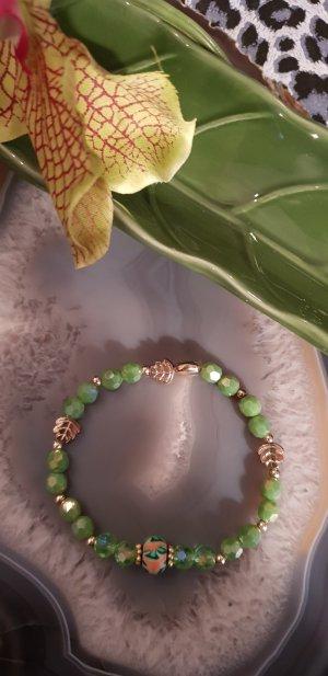 Kristallperlen Armband grün