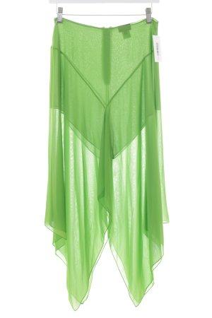 Krizia Jupe asymétrique vert gazon style décontracté