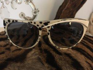 KRIZIA handmade in Italy toller Look schwarz weiss extravagant Sonnenbrille