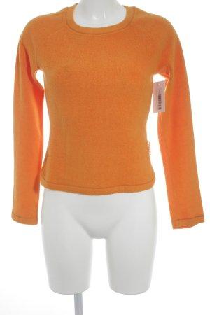 Krizia Jeans Pullover in pile arancio neon stile casual