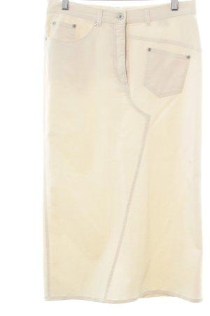 Krizia Jeans Falda vaqueras crema estilo clásico