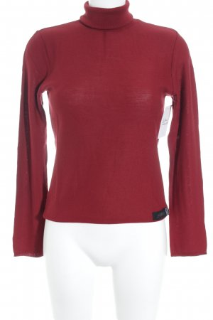 Krizia Jeans Turtleneck Sweater dark red simple style