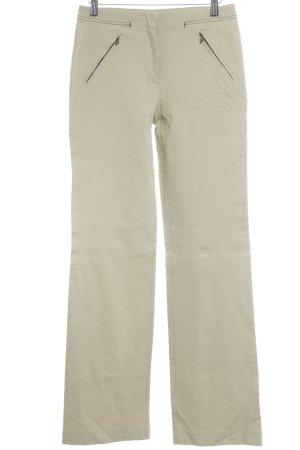 Krizia Jeans Pantalón elástico beige estilo minimalista