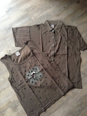 Krizia maglia Twin Set T-Shirt + Top Khaki