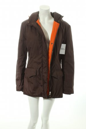 Krizia Winterjacke orange-dunkelbraun Casual-Look
