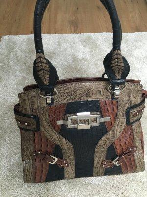 Kroko Handtasche, kein echtes Leder