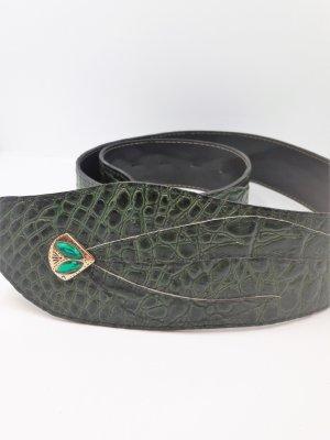 Kroko Vintage Taillengürtel in grün