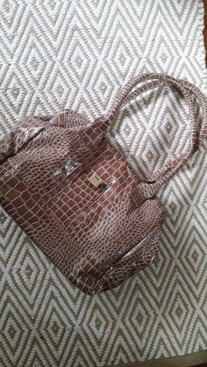 Krokodil Muster Handtasche