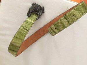 Krokogürtel aus echtem Leder aus Italien mit Krokodil Schnalle