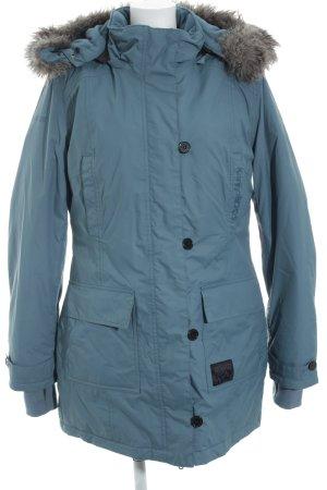 KRS & Co Veste d'hiver bleu cadet style décontracté